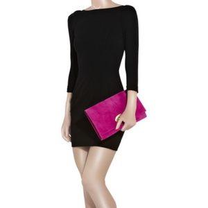 Diane Von Furstenberg Black Bodycon Sheath Dress